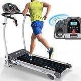 Kinetic Sports Laufband 1100 Watt 12 Trainingsprogramme für GEH- u. Lauftraining, integrierte...